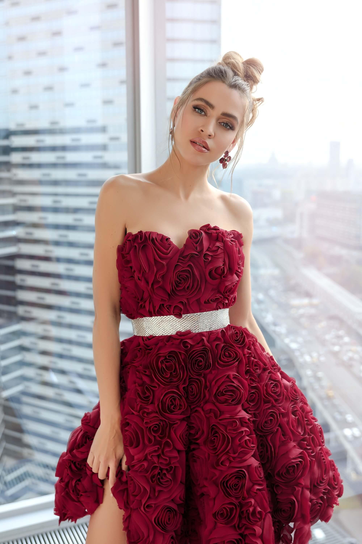 Официалана рокля Wine - mini