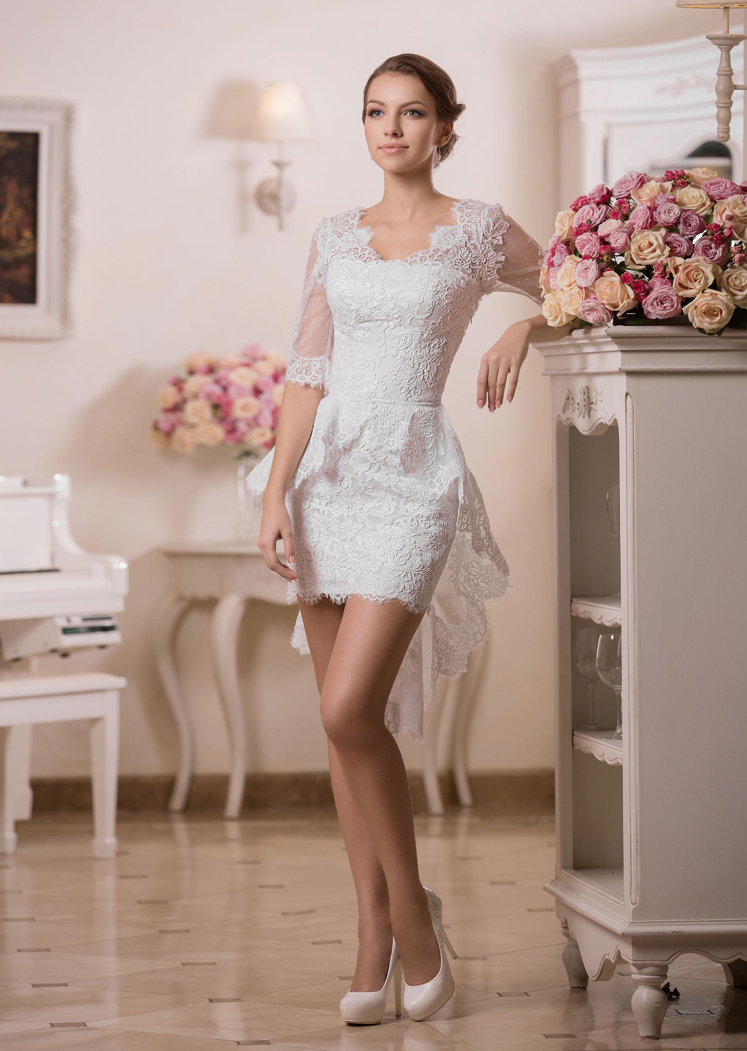 Къса сватбена рокля Antoniа