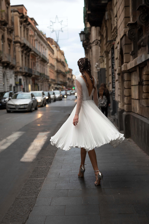 Къса булчинска рокля Izabella